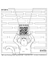 Coloring pages labyrinth with monkey