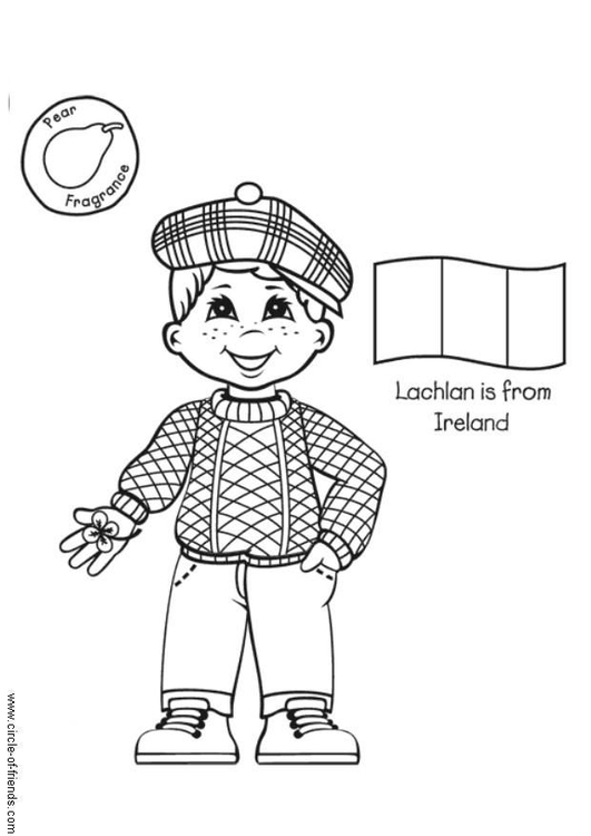 Coloring page Lachlan from Ireland