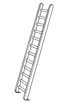 Coloring page ladder