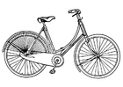 Coloring pages Ladies Bicycle