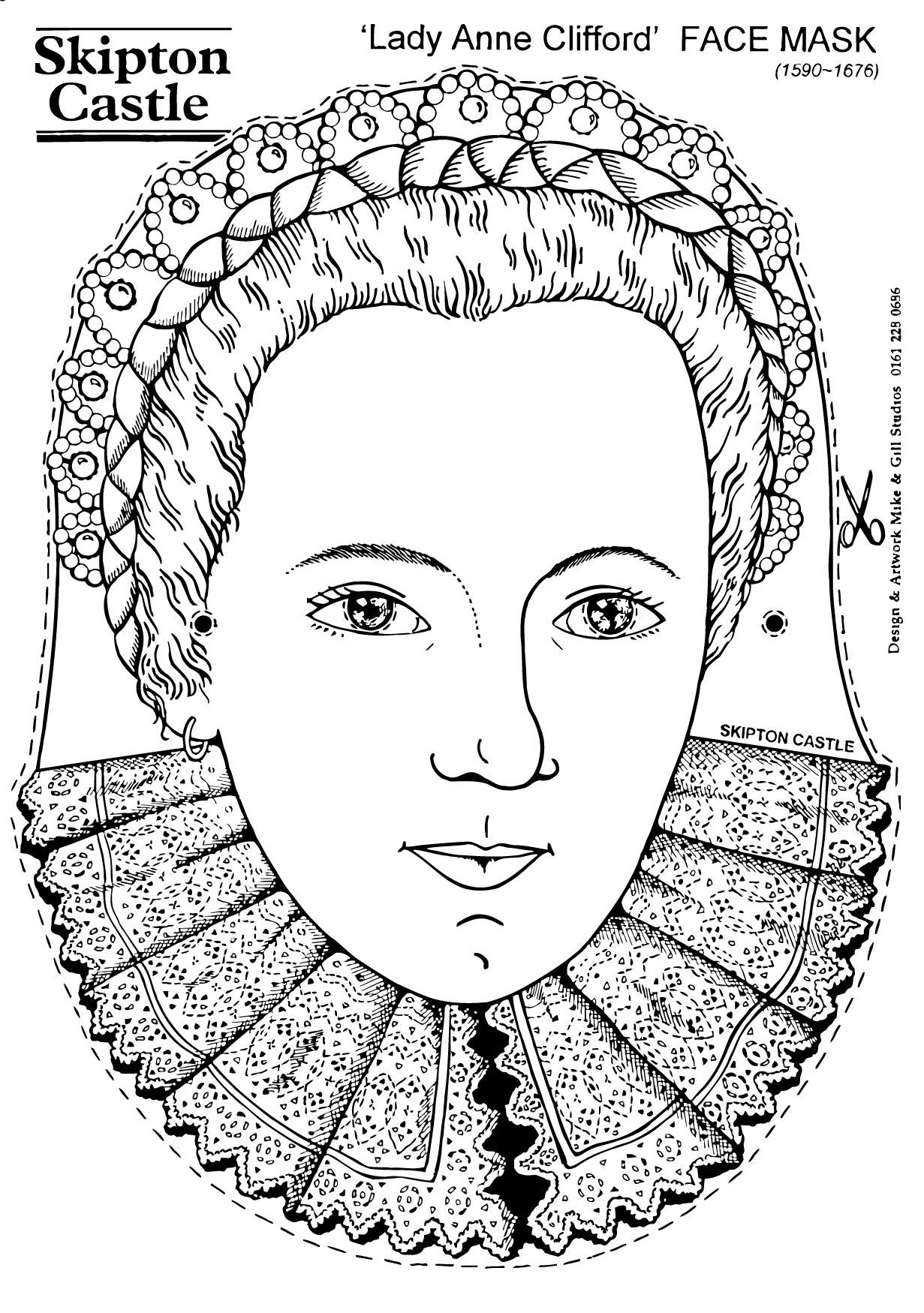 Coloring page Lady Anne Clifford