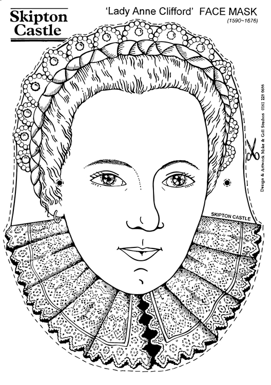 Coloring page Lady Anne Clifford - Face Mask