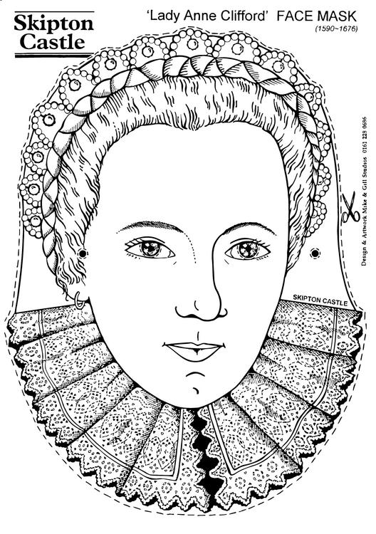Lady Anne Clifford - Face Mask