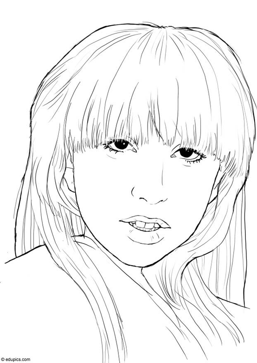 Coloring page Lady Gaga
