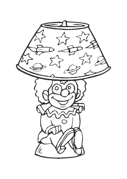 Coloring page lamp