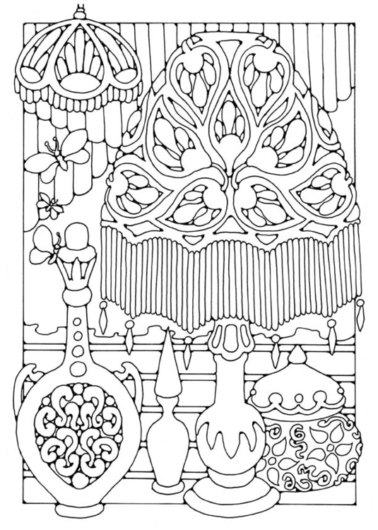 Coloring page lamp -  lighting