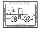 Coloring page landfill compactor