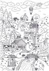 Coloring page landscape