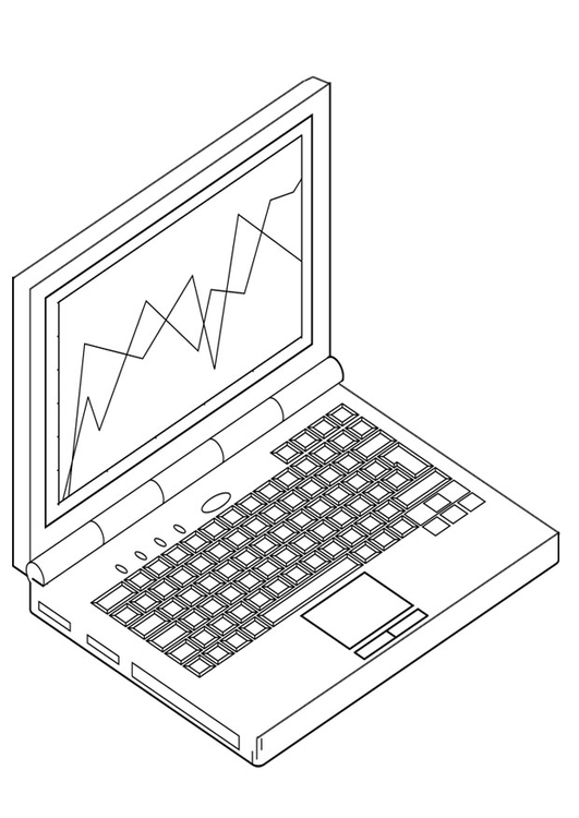 Coloring page laptop