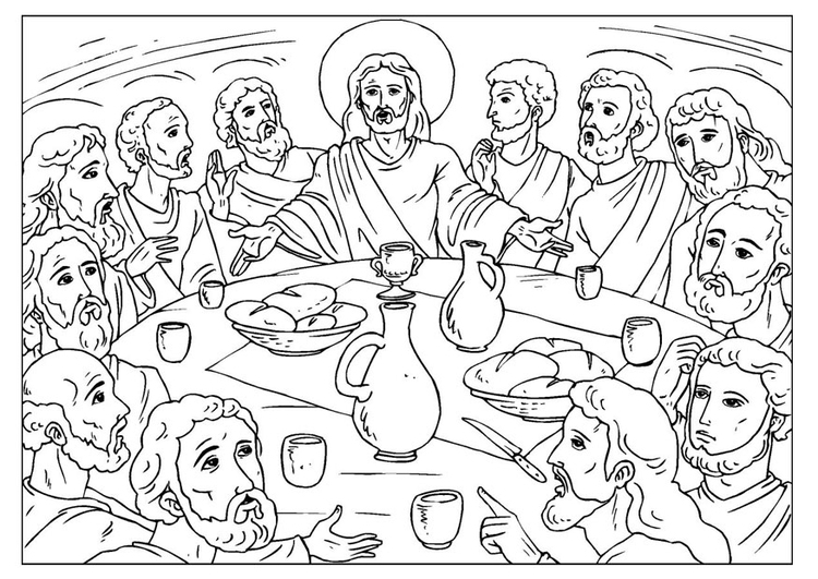 Coloring page last supper - img 25923.
