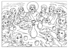 Coloring pages last supper