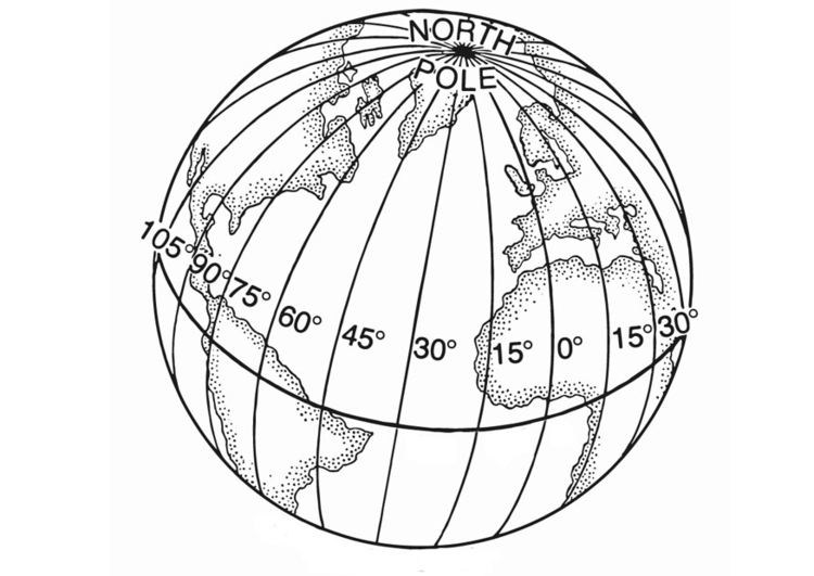 Coloring page latitude