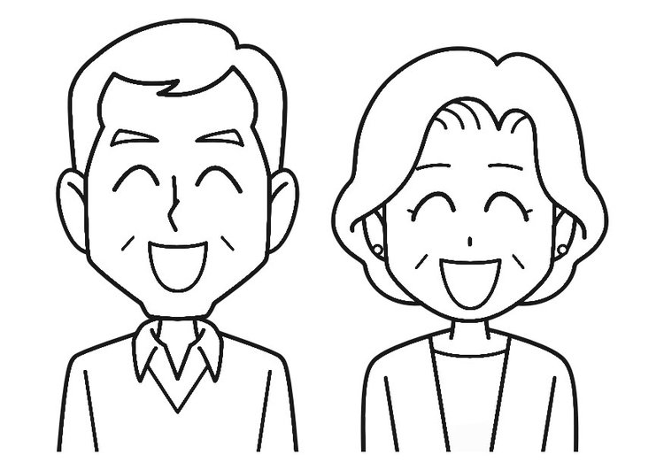Coloring page laugh