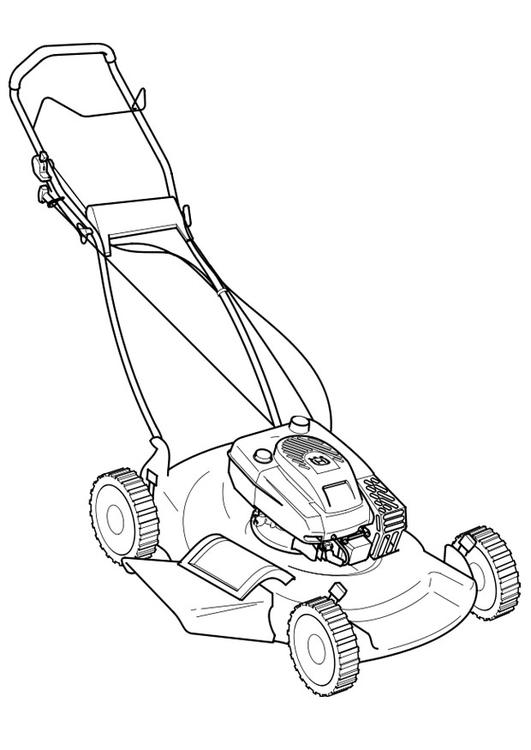 Coloring page lawn mower img 19112 for Lawn mower coloring page