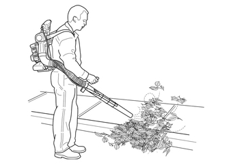 Coloring page leaf hoover