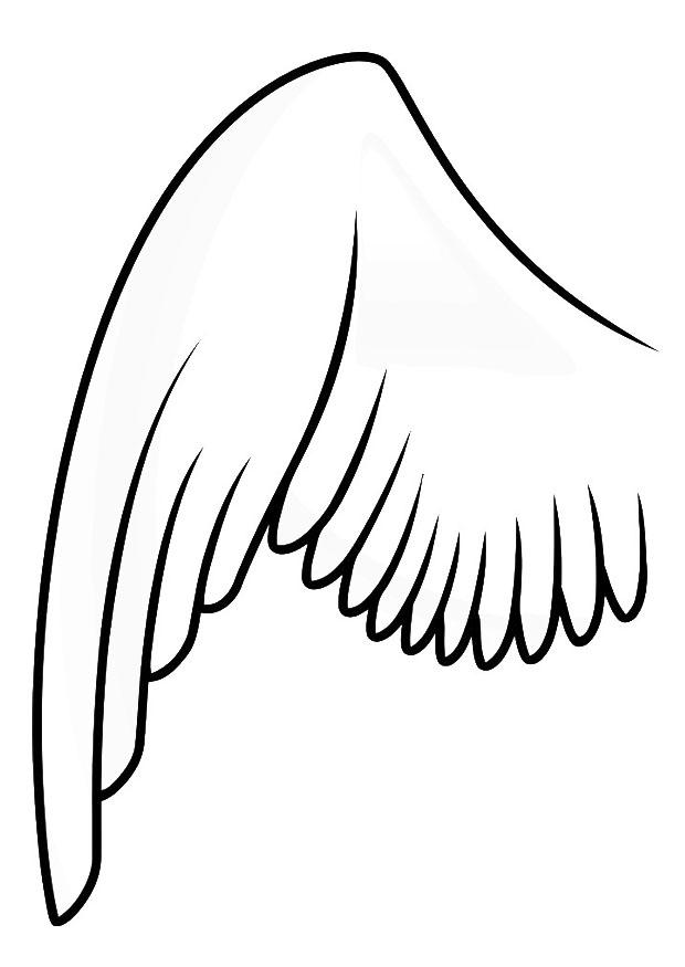 Coloring page left wing img 20687 for Wing coloring pages