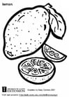 Coloring page lemon