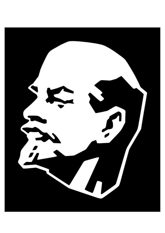 Coloring page Lenin