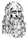 Coloring page Leonardo da Vinci