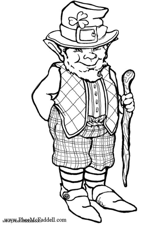 Coloring Page Leprechaun Img 6095