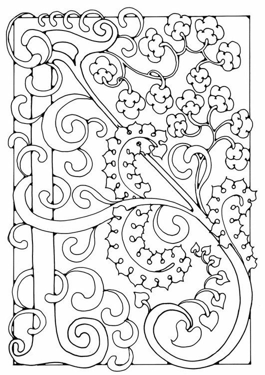 Coloring page letter - A