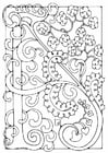 Coloring pages letter - A