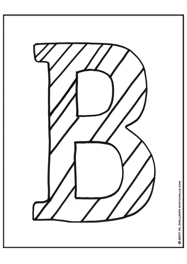 Coloring Pages Letter A. Coloring page Letter B