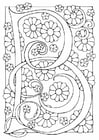 Coloring pages letter - B