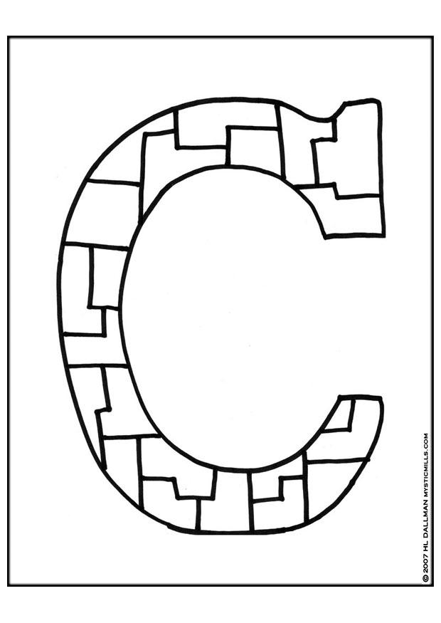 holding co Alphabet coloring pages - fun interactive letters of the