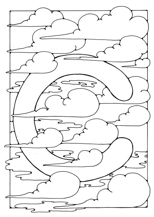 Coloring page letter - c