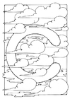 Coloring pages letter - c
