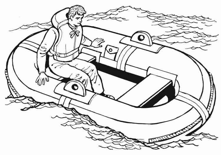 Coloring page Lifeboat