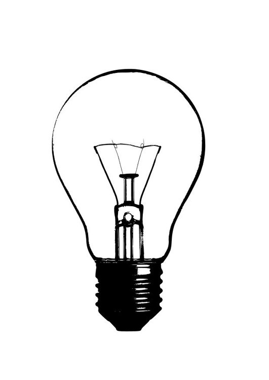 light bulb coloring pages for kids | Coloring page light bulb - img 10244.