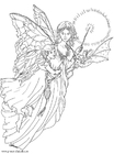 Coloring pages light fairy
