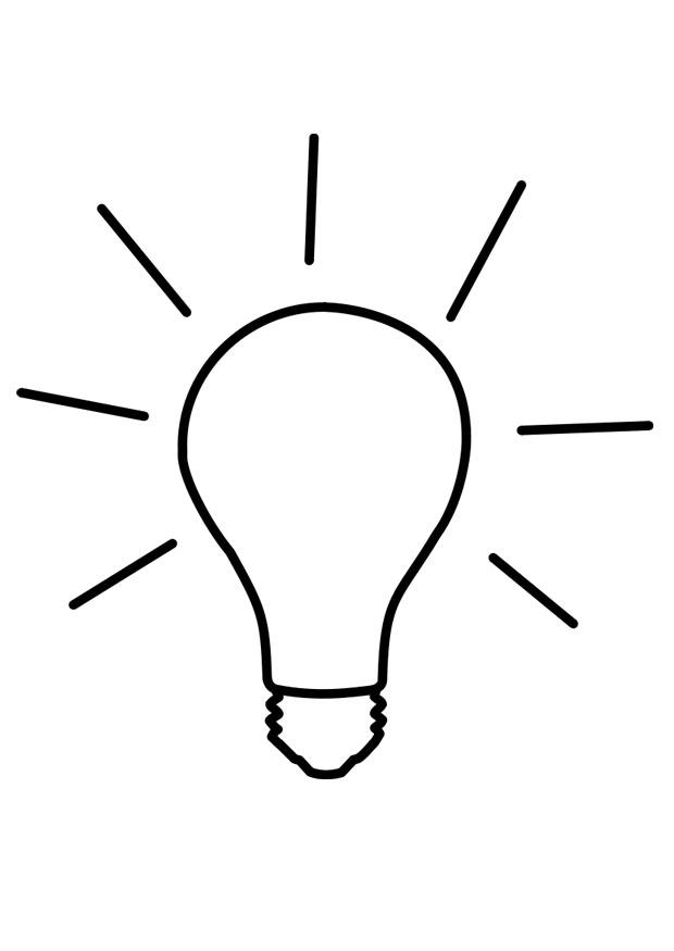 coloring page light on