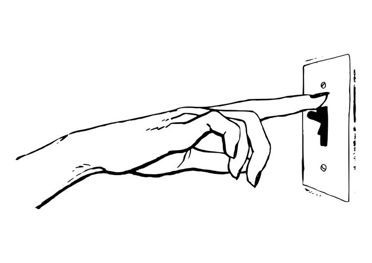 Coloring page light switch