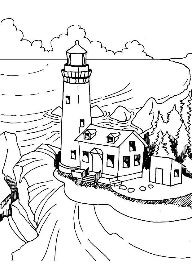 Chesapeake Lighthouse Coloring Page - Old Mill Crab House - For