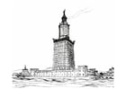 Coloring pages lighthouse of Alexandria