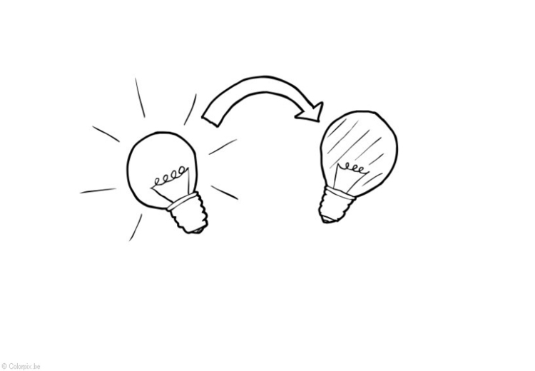 Coloring page Lights out - Energy saving