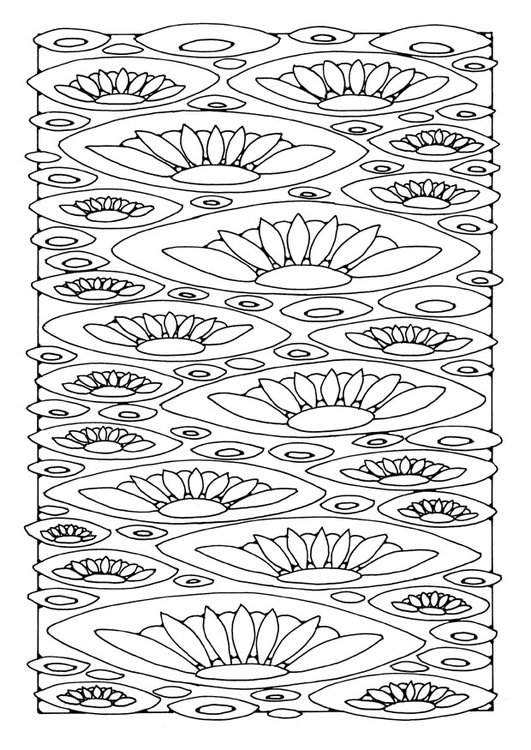Coloring page lilies