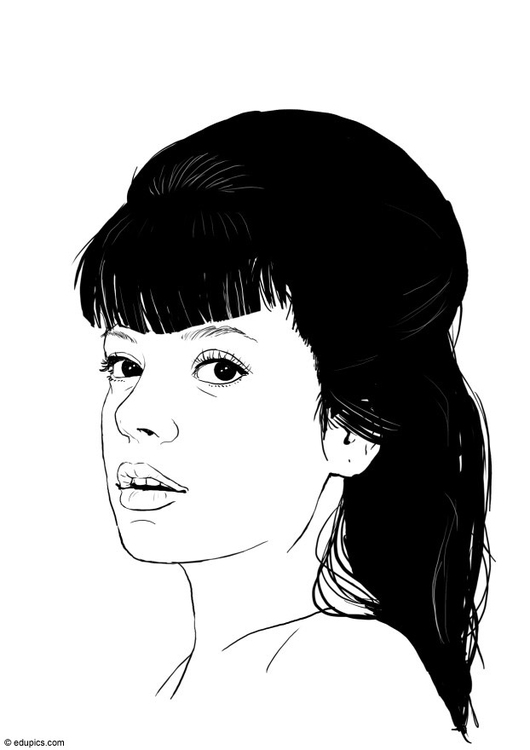 Coloring page Lily Allen