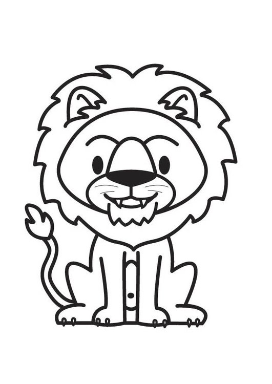 Coloring page Lion