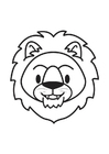 Coloring pages Lion Head
