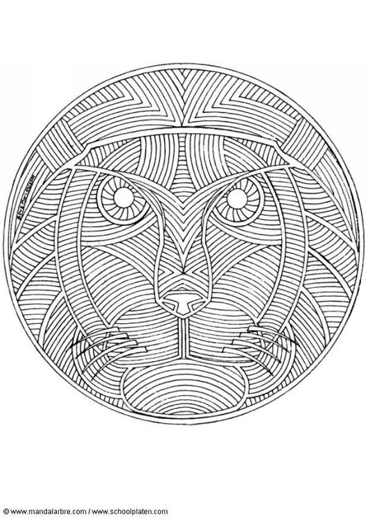 Kleurplaten Dieren Volwassenen Uil Coloring Page Lion Mandala Img 18714