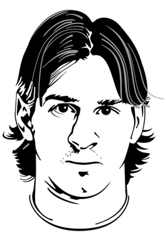 Coloring page Lionel Messi
