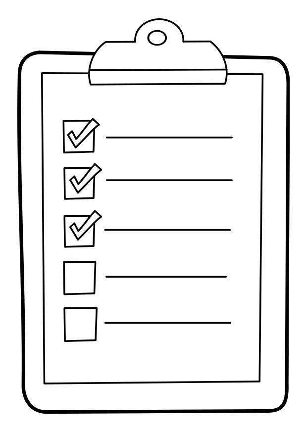 Coloring Page List On Clipboard Img 22850