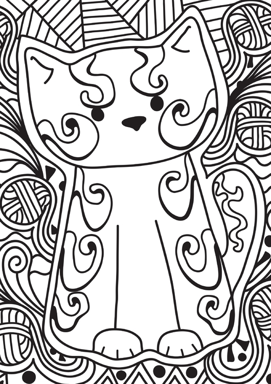 Coloring page little cat