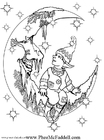 Coloring page little elf 2
