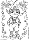 Coloring page little elf