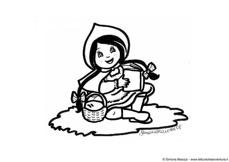 Coloring page Little red riding hood